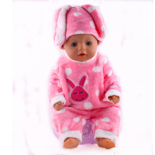 New Arrival high quality popular pink Rabbit outfit Winter suit For 43cm New Baby Born Zaft free shipping (Including hat)N283