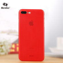 Benks case for iPhone 7 matte phone shell thin for apple 7 Plus Shell China lucky Red 7P 0.4mm Hard PP phone back cover