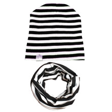 Cute Cap Cotton Baby Hat Scarf For Kids Girls Boys Knit Beanie Stripe Soild Toddler Children Hats Winter Spring
