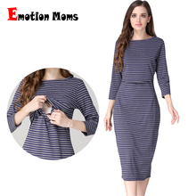 Emotion Moms Party maternity clothes maternity dresses pregnancy clothes for Pregnant Women nursing dress Breastfeeding Dresses(Hong Kong)