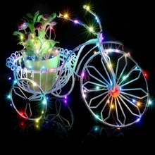 DHL 100pcs/lot Operated by CR2032 Button Battery 2M 20LED Micro LED String Fairy Light Strip For Party Wedding Wholesale