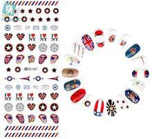 Rocooart DS087 Nail Water Transfer Nails Art Sticker Stars Flags Harajuku Nail Wraps Sticker Tips Manicura nail supplies Decals