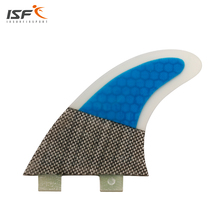 ISF new arrived carbon fiber honeycomb blue barbatanas fcs surfboard fins quilhas de surf thruster fcs surf fins G5 tri-set(China)