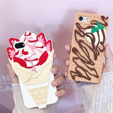 Banjolu New 3D Ice Cream Silicone Phone Case for iPhone 6 6s 6plus 6splus Rubber Chocolate Candy Back Cover for iPhone 7 7Plus(China)