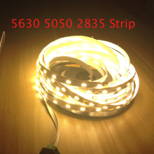 2016 New LED Strip Light Non-Waterproof 5630 5050 2835 DC12V 5M 300Led Flexible Bar Light High Brightness Indoor Home Decoration