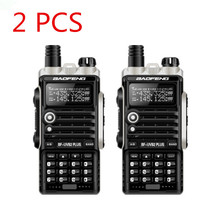 2PCS UV B2Plus cb radio 8W handy baofeng 10km mobile walkie talkie dual VHF/UHF 136-174/400-520mhz 4800mah battery 128ch LCD
