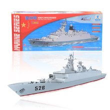 Free shipping Wengzhou 526 Guided Missile Frigate Electric Warship Model  Double Gear Power System Battle Ship DIY toy gift navy