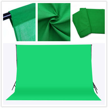 CY Free ship 3x2M Solid color Backgrounds Green screen cotton Muslin background Photography backdrop lighting studio Chromakey(China)