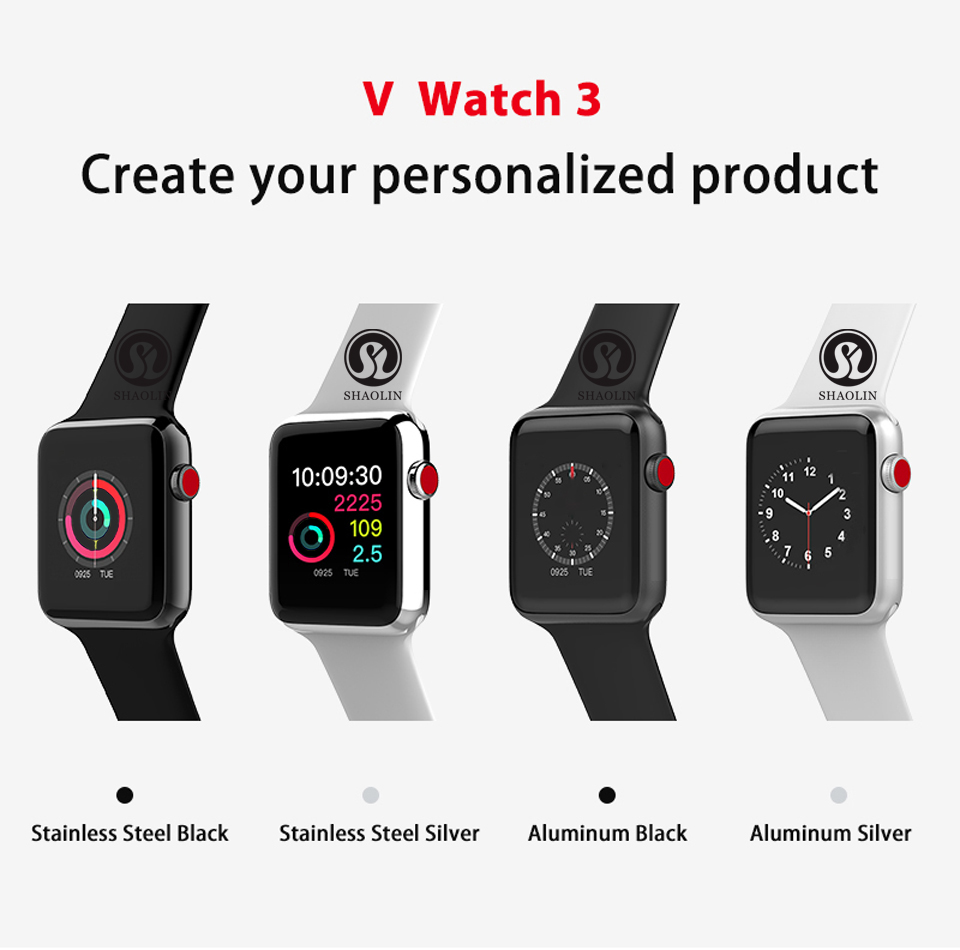Bluetooth Smart Watch case for apple iphone android phone smartwatch pk apple watch