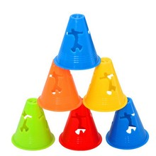 NEW 10 PCS Figure Human-figure Skating Mark Cups Marker Cones Slalom Skating Football Windproof Training Cone Skating