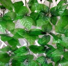 Artificial fabric apple leaves vine, faux silk ivy rattan, fake foliage greenery, house garden home store shop decoration, 24PCS(China)