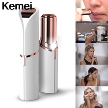 Kemei Women's Painless Hair Remover for Mouth Chin Cheeks HOT Women's Painless Epilators Electrolysi Hair Removal Depilatory Wax(China)
