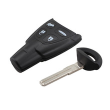 4 Buttons Remote Key Fob 433Mhz PCF7946AT Fit For SAAB 9-3 9-5 2003-2010 FCC:LTQSAAM433TX Replacement Refit Car Key