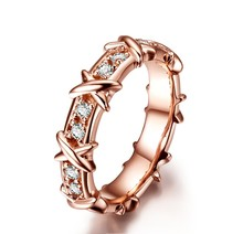 THREEMAN Authentic Guarantee Rose Gold Color Quality Synthetic Diamonds Ring for Women Engagement Brand Silver Ring Infinity 925(China)