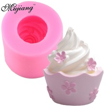 DIY Cupcakes Shape Silicone Candle Mold Resin Clay Soap Molds Chocolate Cake Moulds Fondant Cake Decoration Tools XL168