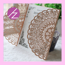 Hot sell new wedding invitation cards handmade wedding cards free shipping QJ70(China)