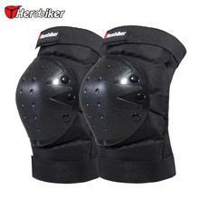 HEROBIKER Motorcycle Knee Protector Bicycle Cycling Bike Racing Tactical Skate Protective Knee Pads Guard Black Protection Pads