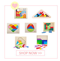 Colorful Wooden Tangram Tetris Game Brain Teaser Puzzle Toys Baby Preschool Magination Early Educational Kids Toy Children Gift 7