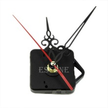 For 11.11  Black Chic Quartz Clock Movement Mechanism Repair DIY Tool Kit + Red Hand