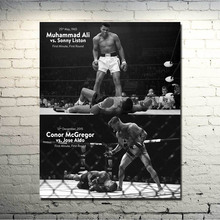 CONOR McGREGOR Muhammad Ali UFC MMA Motivational Silk Poster 24x30 inches Pictures For Living Room Decor Great Gift(China)