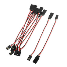 CNIM Hot 10 Pcs Remote Control Female to Male Servo Extension Cable Wire Black+Red+White(China)