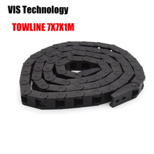 Plastic Cable Drag Chain Wire Carrier with End Connector Length 1m for 3D Printer CNC Router Machine Tools