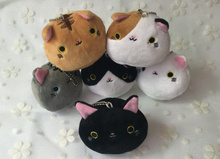 Super HOT , Gift Plush Toy Cat Stuffed 6Colors. Plush Doll , Stuffed Animal Cat plush toy doll , keychain pendant toy