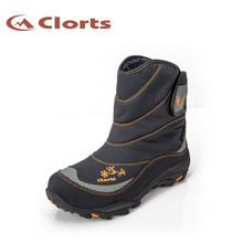 2017 Clorts Womens Outdoor Snow Boots Winter Style Warmth Windproof Ski Climbing Sports Boots For Women Free Shipping SNBT-203B