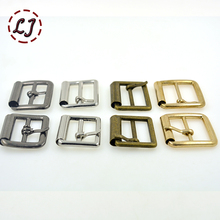 2015 New 20pcs/lot 20mm(0.8in) gold silver bronze iron pipe Square alloy metal shoes bags Belt Buckles DIY sew accessory(China)