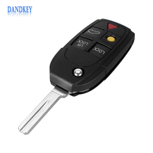 Dandkey New 5 Buttons Remote Flip Folding Key Shell Case For Volvo XC70 XC90 V50 V70 S60 Shipping