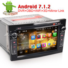 "Erisin ES3760PB Black color 7"" HD Android 7.1 Car DVD DAB+ GPS Sat for Opel Vauxhall Vextra Astra Corsa(China)"