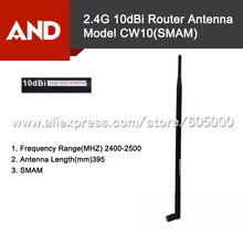 2.4GHz 10dBi WiFi Booster Antenna Range Extender,2.4g 10dbi Huawe Router Antenna with SMA male(China)