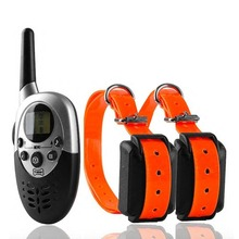 Pet Trainer 2 Dogs 1000 Yards Remote Dog Training Collars with Static Shock Stimulation / Vibration / Sound(China)