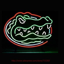 Florida gators Neon Sign Neon Bulbs Led Sign Real Glass Tube Handcrafted Decorate Pub Display Recreation Windows Guarage VD19x15