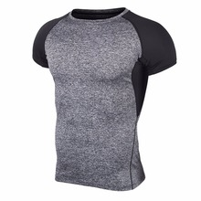 2017 New Men Polyester T-shirt Summer Casual Quick Dry T-shirt Hot Male Tight Tees for Fitness