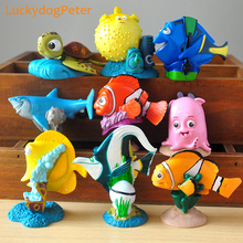 Finding Dory 9pcs/set Marlin Nemo Action Figures Hank Destiny Bailey Jenny Dolls PVC ACGN figure Toys Brinquedos Anime 4-7CM