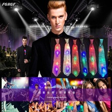 FGHGF 1PC Flashing Light Up Bow Tie Necktie LED Mens Party Lights Sequins Bowtie Wedding