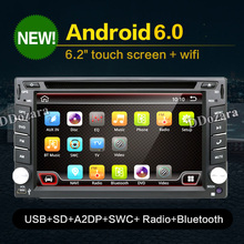dvd automotivo 2 din radio GPS for android 6.0 Car DVD player navigator+Wifi+Radio+mp3 player steering wheel free map camera(China)
