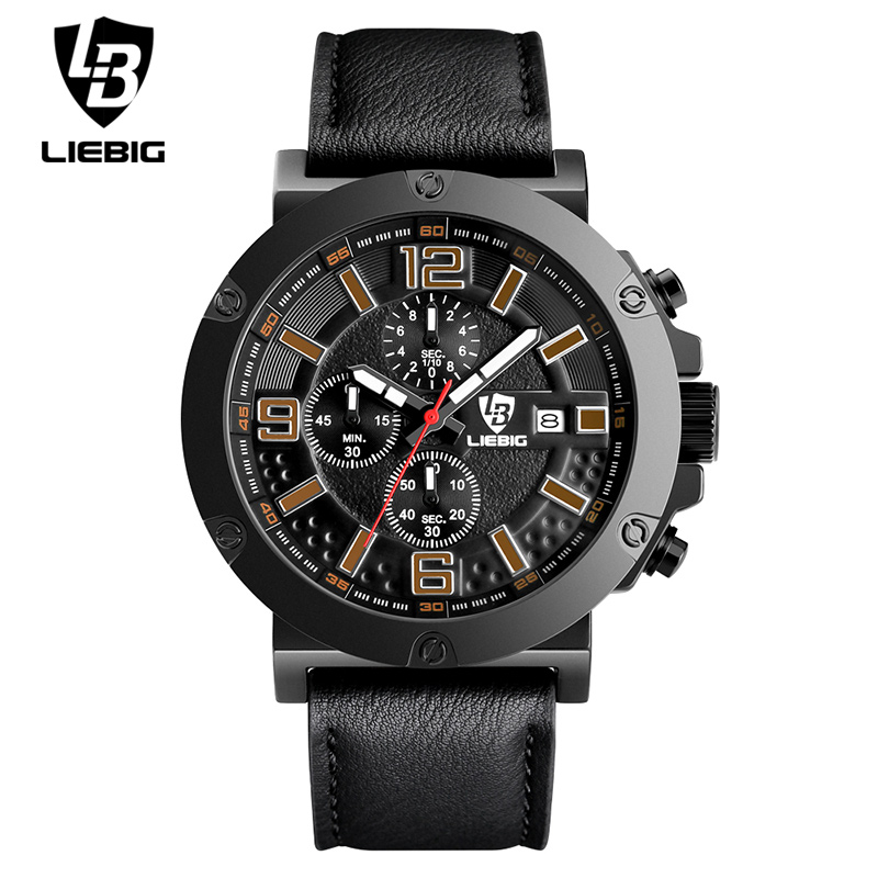 LIEBIG Fashion Leather Watches Men Casual watch Men Business Wristwatches Sports Military Quartz Watch Relogio Masculino 1017<br><br>Aliexpress