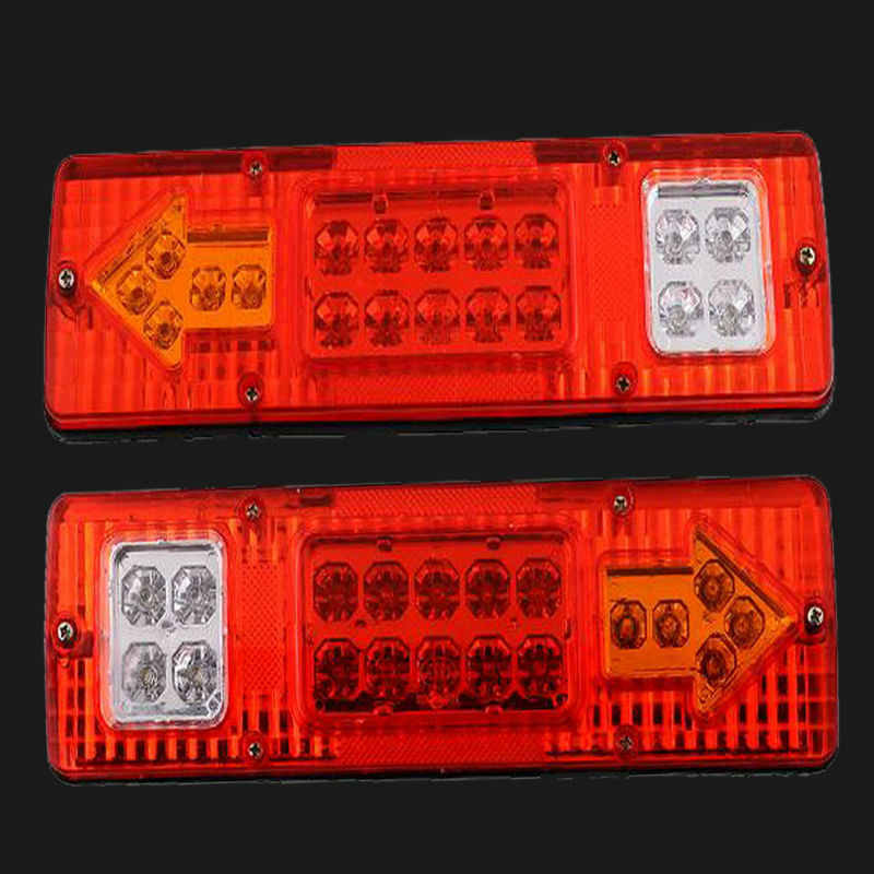 free shipping 2X 19 LED Trailer Truck RV ATV Turn Signal Running Tail Light  White-Amber-Red<br><br>Aliexpress