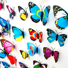 2015 New Gossip Girl Same Style 3D Butterfly Wall Stickers Butterflies Decors For Home Fridage Decoration