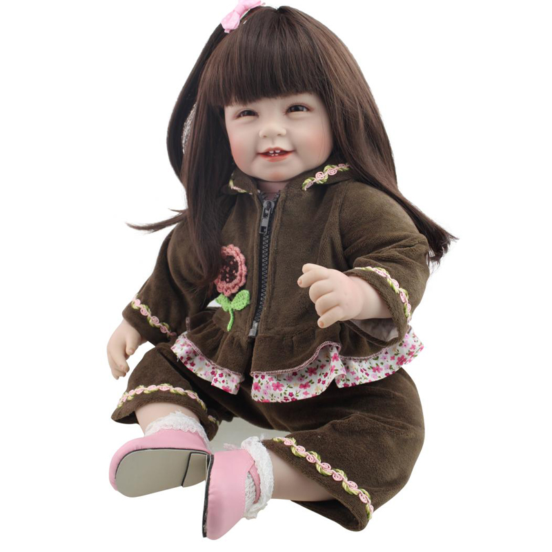 50-55CM Silicone Reborn Baby Dolls lifestyle Collect Toys Cute Reborn Baby By NPK Dolls Kids Gift at NewYear 2016 New Arrived<br><br>Aliexpress