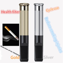 Hot Selling Cigarette filter USB charging electronic cigarette lighter smokers circulation cleaning type Health cigarette holder(China)
