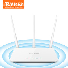 Tenda F3 300Mbps Wireless WiFi Router Wi-Fi Repeater, Multi Language Firmware,1WAN+3LAN Ports, Perfect for Small & Medium House(China)