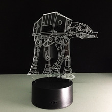Creative Gifts Star Wars Lamp 3D Night Light Transporting dogs USB Led Table Desk Lampara as Home Decor Bedroom Reading Nightlig(China)