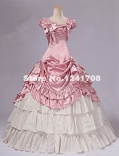 2017 Sweet Pink Sleeveless Victorian Lolita Prom Party Dresses Costumes Southern Bell Rococo Party Dress Christmas Party Dresses