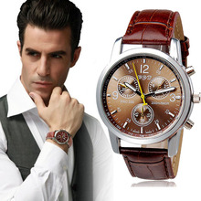 Jimshop watch men Luxury Fashion Crocodile Faux Leather Men Analog Quartz wrist Watch Watches men Sports watch relogio masculino