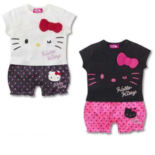 2017 Summer New Baby Girl Rompers Newborn Cartoon Cute Hello Kitty Clothes Baby Girl Jumpsuit Costumes Infant Clothing Set