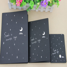 New Sketchbook Diary for Drawing Painting Graffiti Soft Cover Black Paper Sketch Book Notebook Office School Supplies Gift