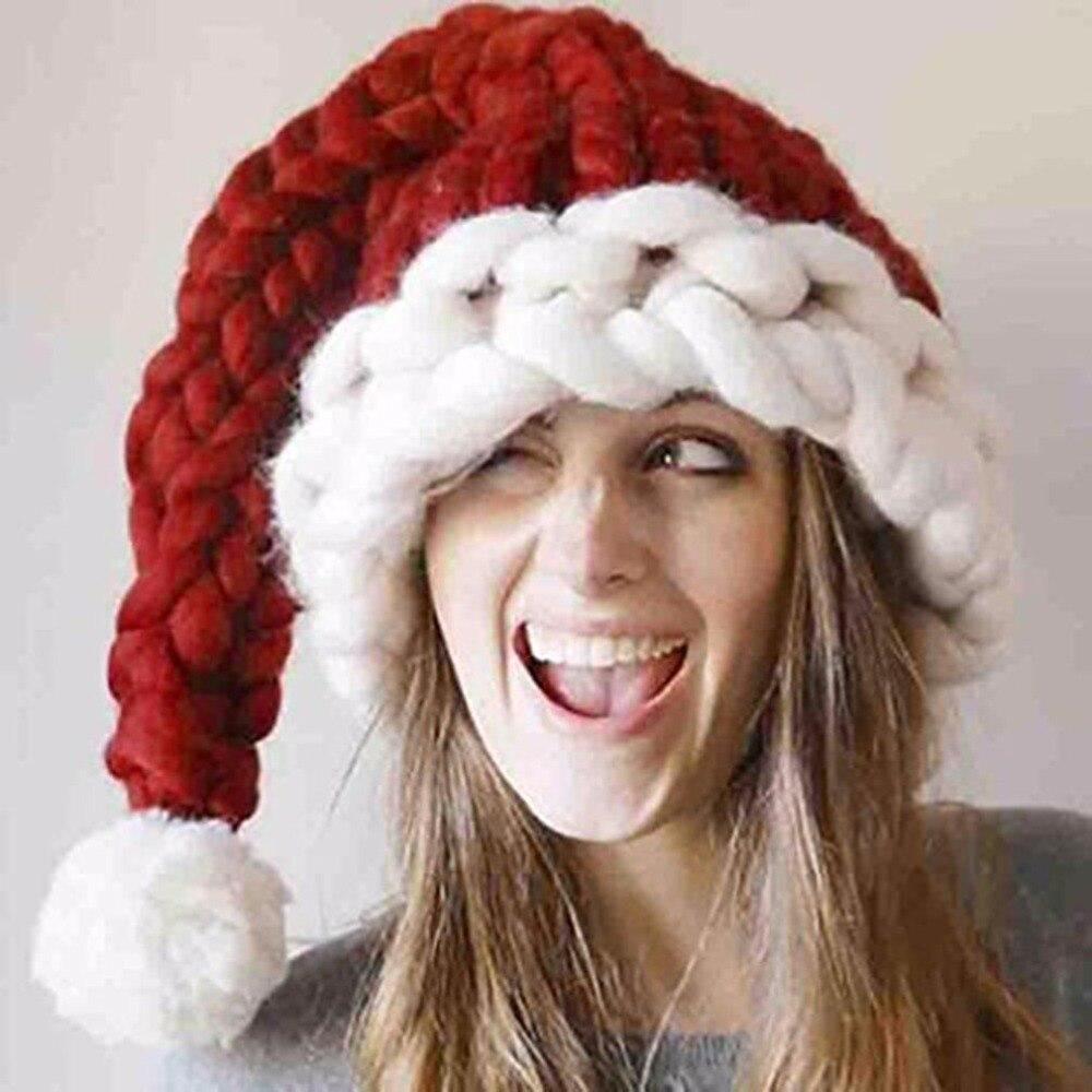 Vêtements et accessoires pour bébé Les Parents Enfants Noël Chapeau Baggy Handmade Laine Hiver Chaud Longue Queue de chapeau